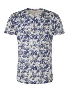 NO-EXCESS T-shirt ALL OVER PRINTED CREWNECK T SHIRT 95350304 136 INDIGO BLUE