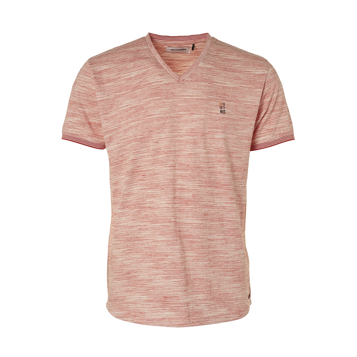 melange v neck t shirt 95350354 no-excess t-shirt 162 cayenne