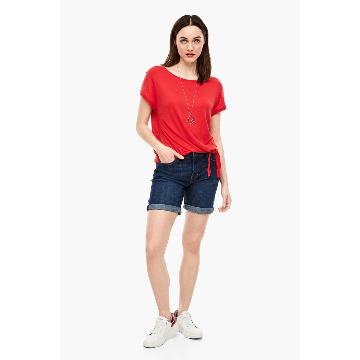 t shirt met knoopdetail 14899326071 s.oliver t-shirt 3123
