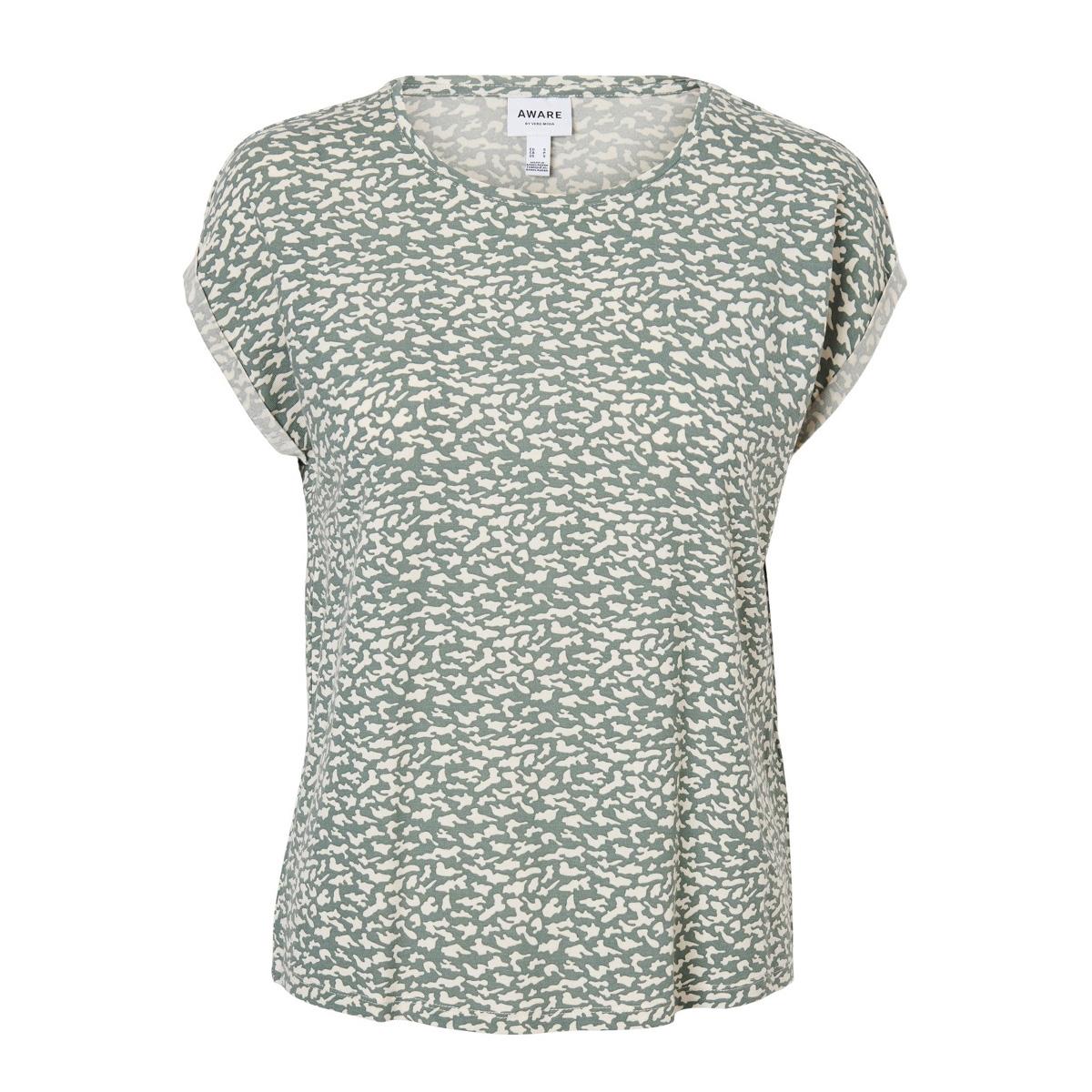 vmava plain ss top aop ga color 10211314 vero moda t-shirt laurel wreath/kiira