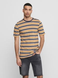 Only & Sons T-shirt ONSCADEN LIFE X-SLIM  TEE CE  6208 22016208 Misted Yellow