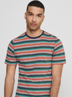onscaden life x-slim  tee ce  6208 22016208 only & sons t-shirt hot coral