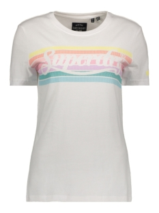 Superdry T-shirt RAINBOW ENTRY TEE W1010094B OPTIC