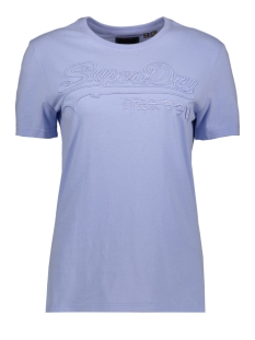 Superdry T-shirt OUTLINE ENTRY TEE W1010057A BLUE HERON