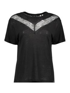 Superdry T-shirt CHEVRON LACE TEE W8010131A BLACK