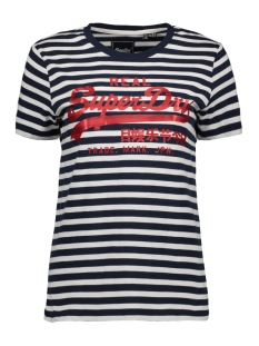 Superdry T-shirt STRIPE ENTRY TEE W1010037B NAVY STRIPE