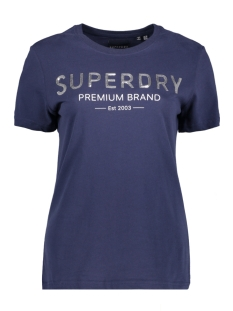Superdry T-shirt SEQUIN ENTRY TEE W1010006A ATLANTIC NAVY