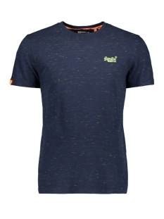 Superdry T-shirt OL VINTAGE EMB CREW M1010024A NAVY FLURO SPACE DYE