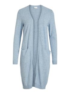 viril long l/s  knit cardigan - noo 14042770 vila vest ashley blue/melange