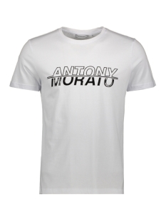 Antony Morato T-shirt T SHIRT WITH PRINT MMKS01816 1000 WHITE