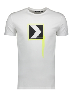 Antony Morato T-shirt T SHIRT WITH PRINT MMKS01746 1000 WHITE