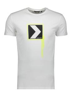 t shirt with print mmks01746 antony morato t-shirt 1000 white