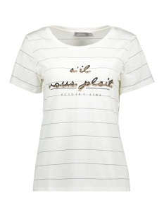 Geisha T-shirt T SHIRT SIL VOUS PLAIT SS 02067 41 WHITE/BLACK/GOLD