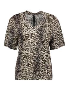 10 Days T-shirt V-NECK TEE LEOPARD 20 753 0201 WINTER WHITE