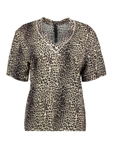 v-neck tee leopard 20 753 0201 10 days t-shirt winter white