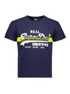 Superdry T-shirt VL CROSS HATCH TEE M1010090A RICH NAVY