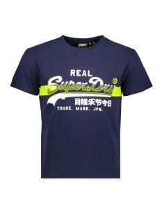 vl cross hatch tee m1010090a superdry t-shirt rich navy