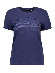 Superdry T-shirt VL TONAL ENTRY TEE W1010028A ATLANTIC NAVY