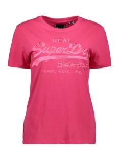 Superdry T-shirt VL TONAL ENTRY TEE W1010028A MAGENTA