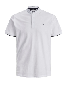 Jack & Jones Polo JPRAXEL BLA. MAO POLO SS STS 12171638 White/SLIM FIT