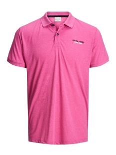 Jack & Jones Polo JCOSCALING POLO SS NL 12175101 Raspberry Rose/SLIM/TUND