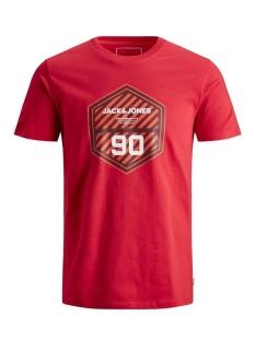 Jack & Jones T-shirt JCOFRIDAY-DISC TEE SS CREW NECK 12165654 Chinese Red/SLIM
