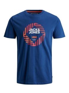 Jack & Jones T-shirt JCOFRIDAY-DISC TEE SS CREW NECK 12165654 Navy Peony/SLIM