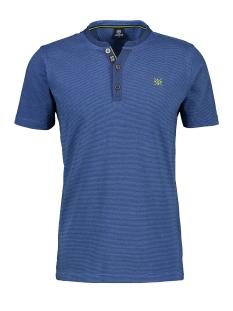 serafino shirt met fijne dwarsstrepen 2023906 lerros t-shirt 440