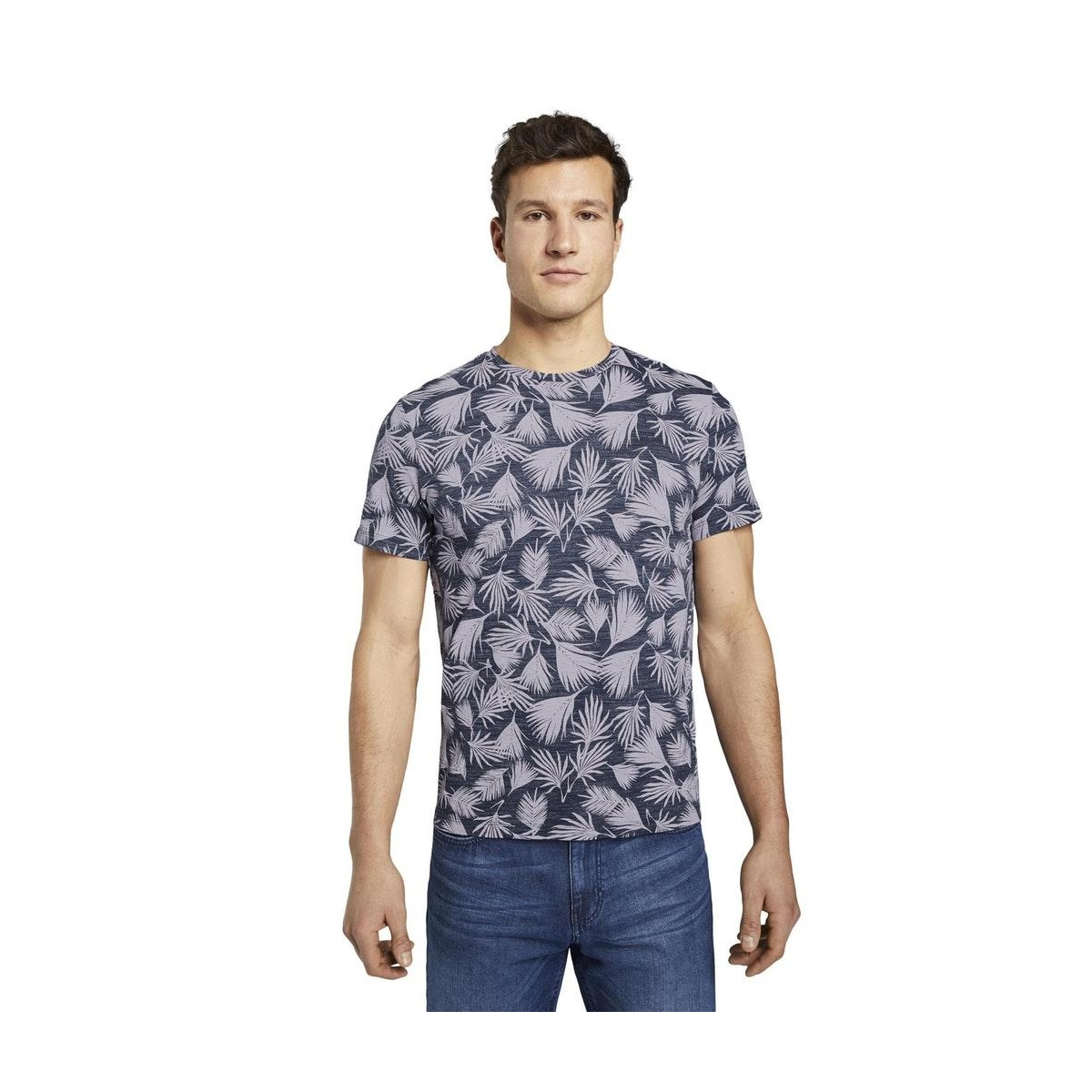 t shirt met all over print 1016148xx10 tom tailor t-shirt 22830