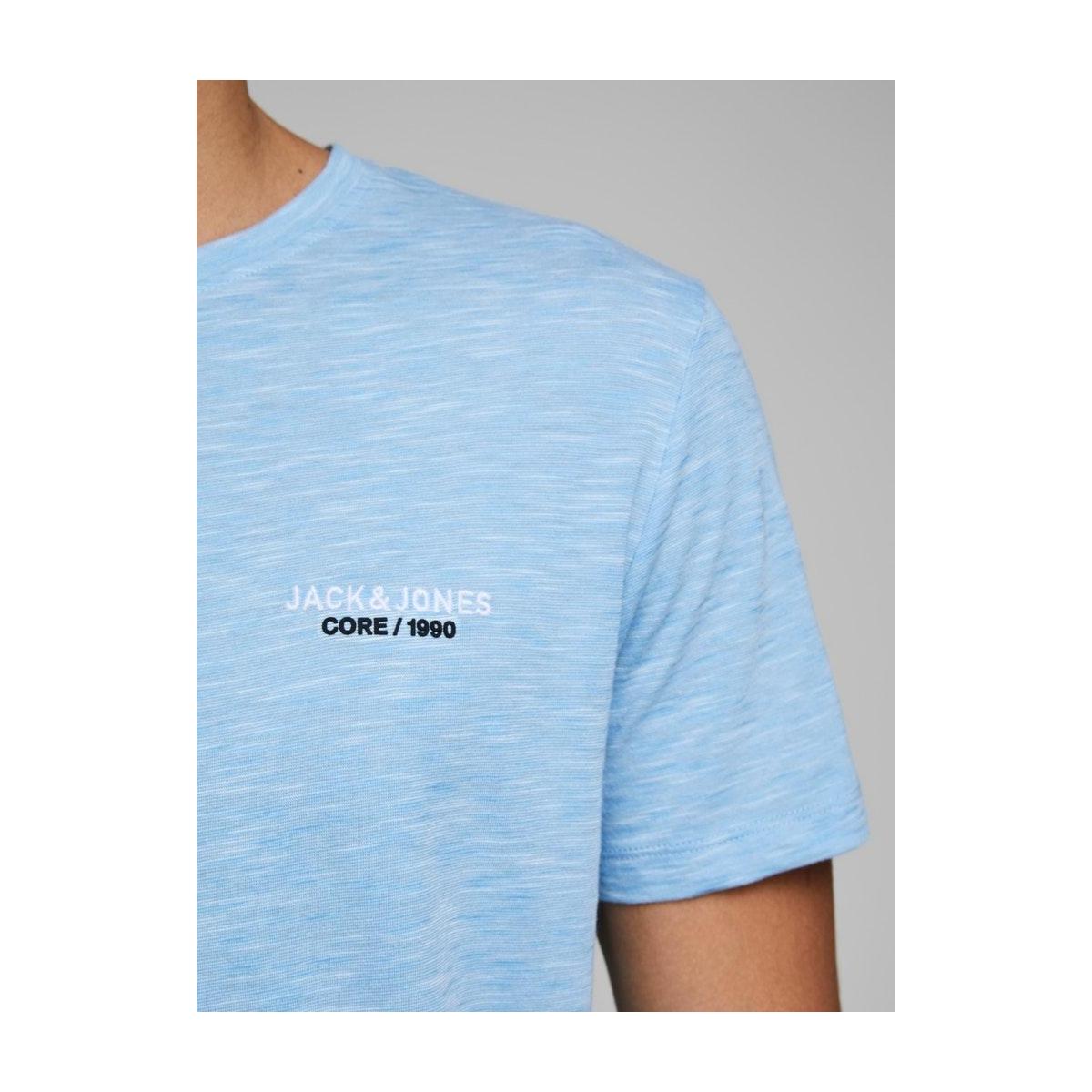 jcoscaling tee ss crew neck nl 12175100 jack & jones t-shirt dusk blue/slim/tita