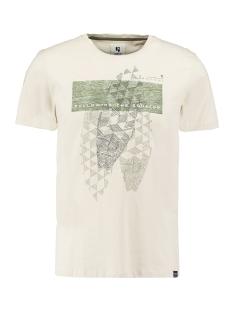 Garcia T-shirt T SHIRT MET OPDRUK P01201 2293 Bone