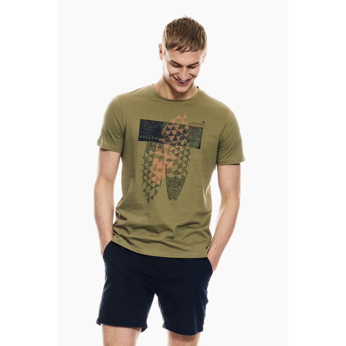 t shirt met opdruk p01201 garcia t-shirt 1805 washed army