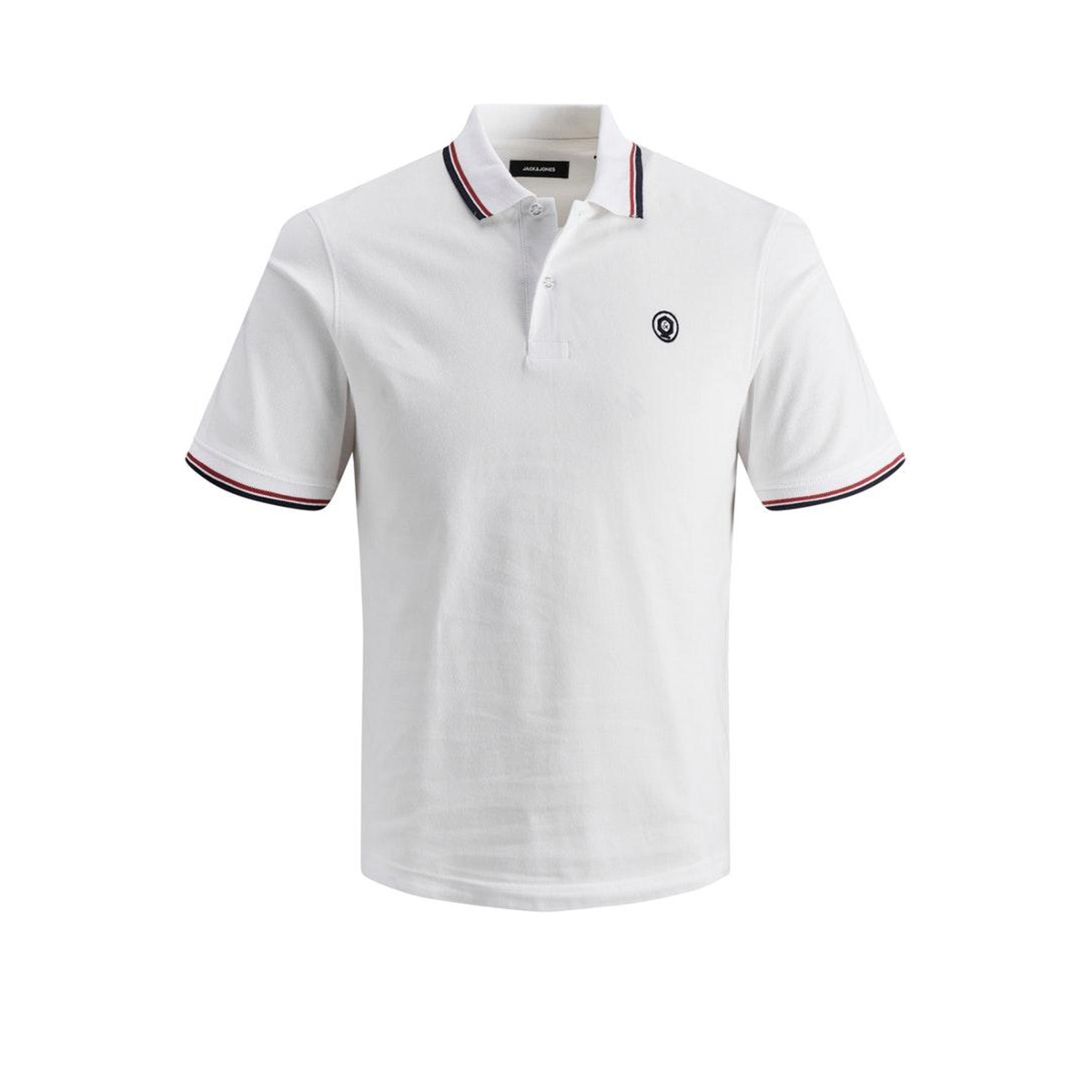 jjenoah polo ss noos 12165254 jack & jones polo white/slim