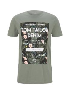 Tom Tailor T-shirt TROPISCHE BORSTPRINT T SHIRT 1018569XX12 11557