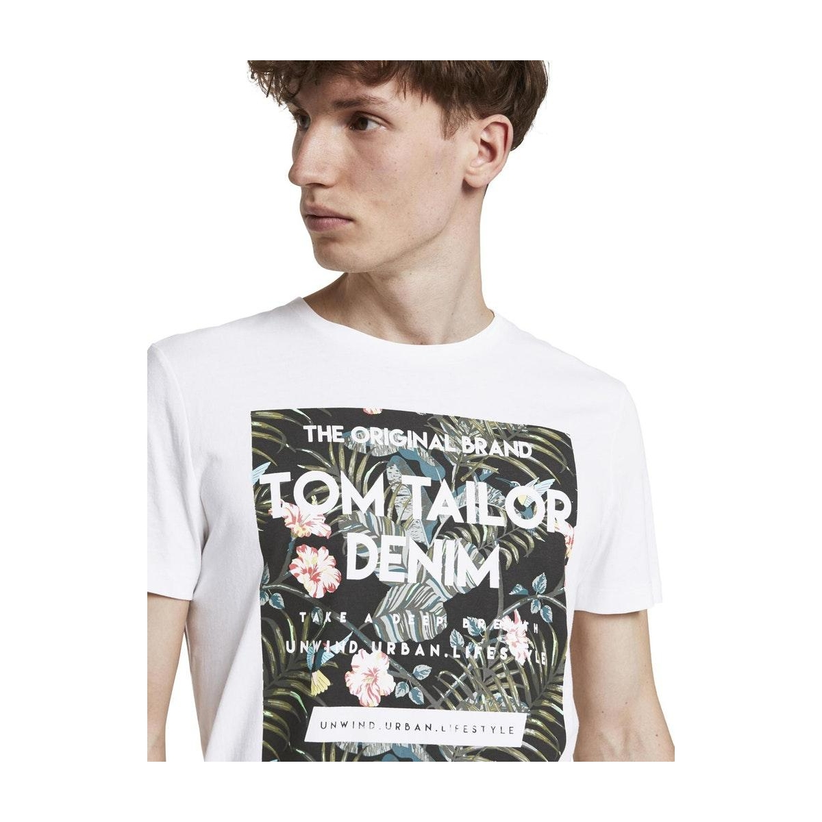 tropische borstprint t shirt 1018569xx12 tom tailor t-shirt 20000