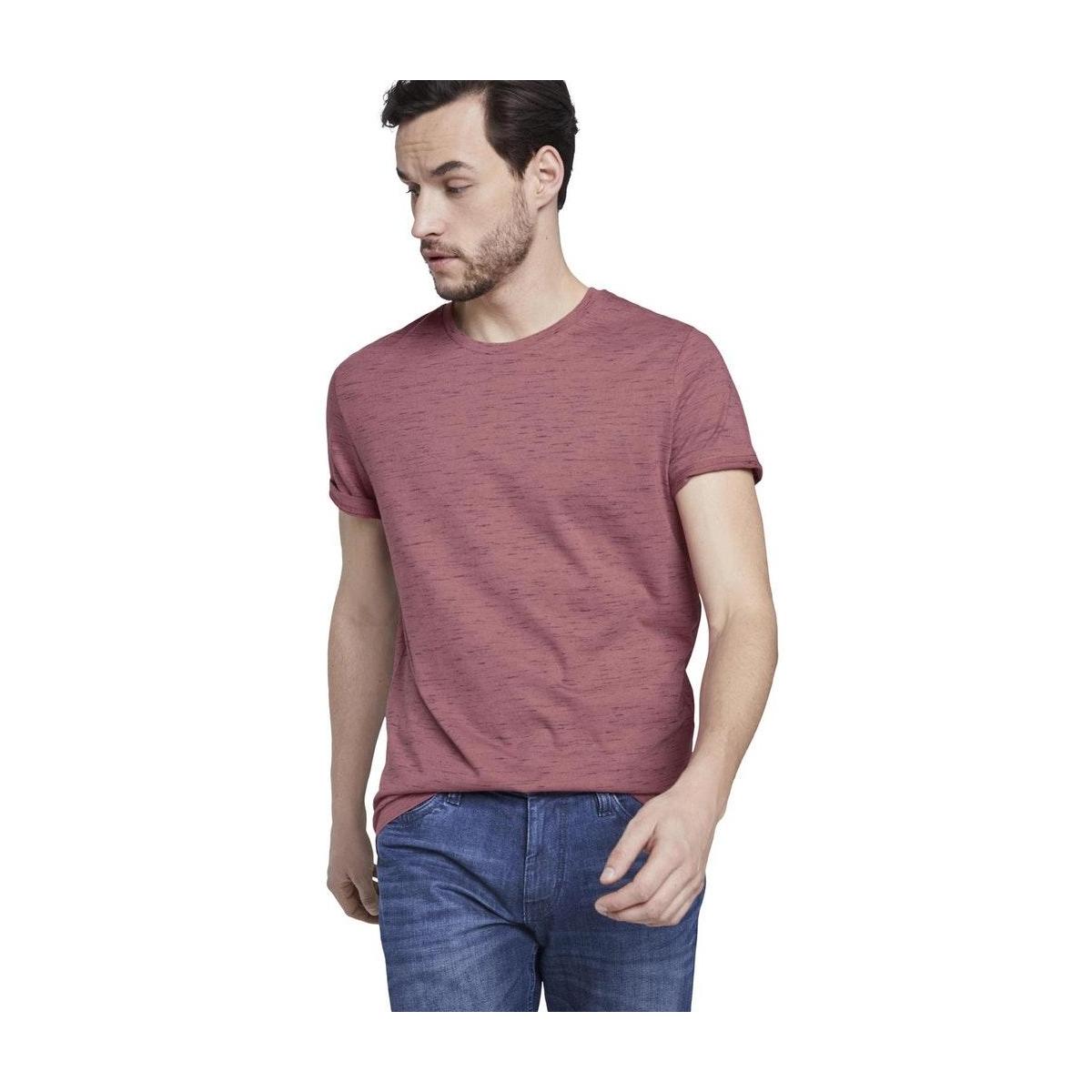 t shirt in melange look 1018292xx10 tom tailor t-shirt 22829