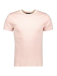 Superdry T-shirt EDIT PIMA TEE M1010142A CREAM PINK STRIPE