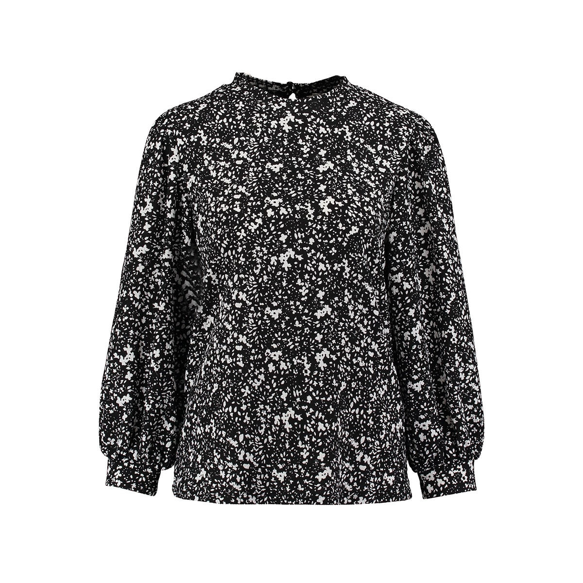 blouse met all over print ge000303 garcia blouse 60 black