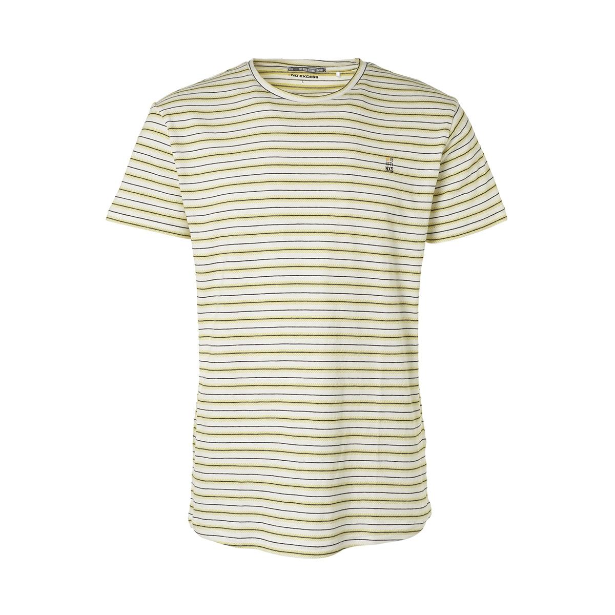 striped jersey crewneck t shirt 95340302 no-excess t-shirt 011 offwhite