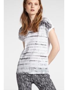 t shirt met subtiele batik print 21101831 sandwich t-shirt 80025
