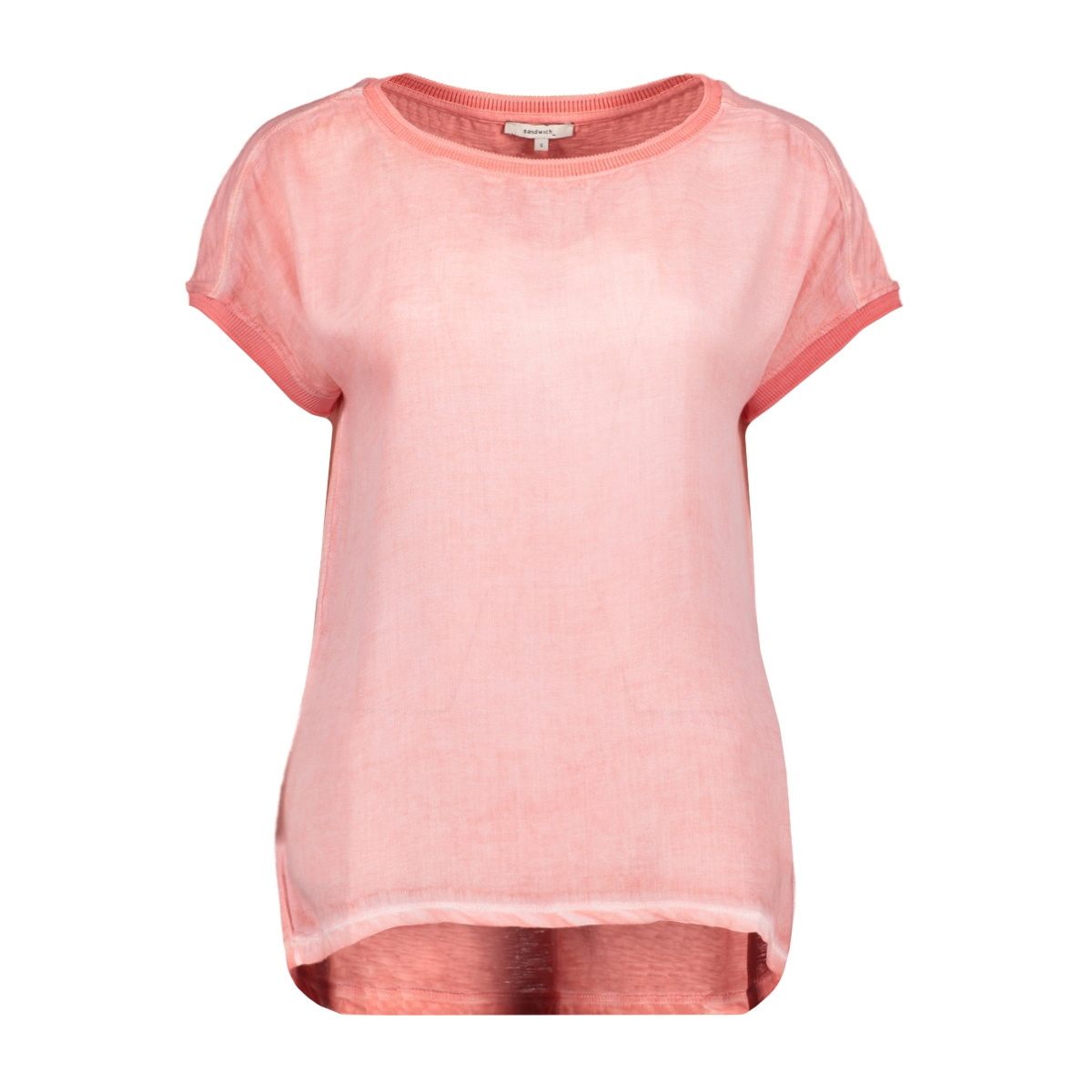 viscose t shirt met subtiele details 21101832 sandwich t-shirt 20139