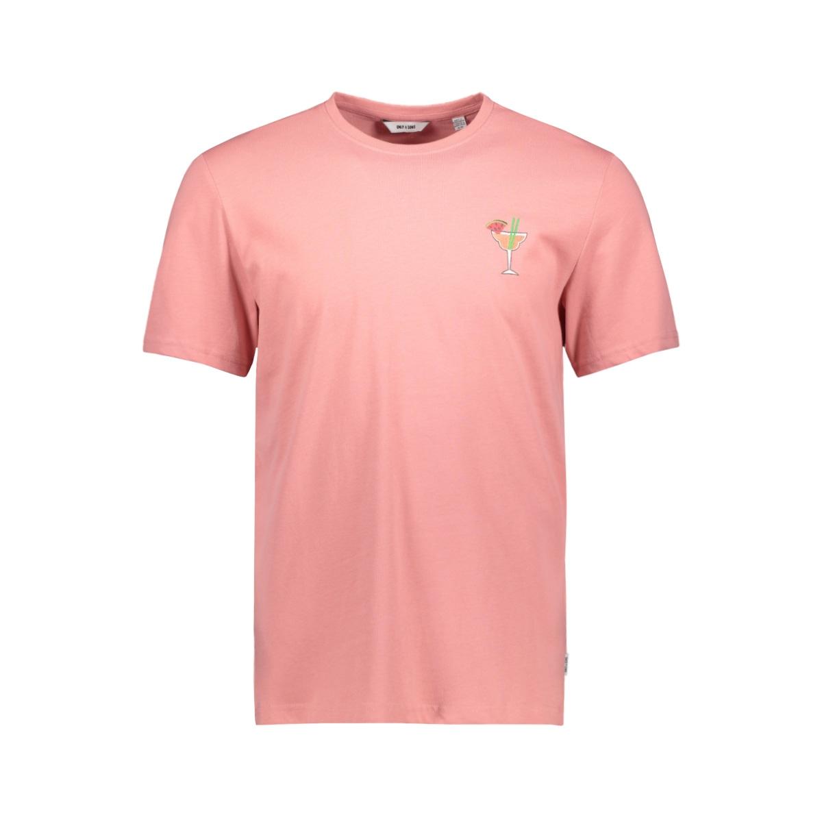 onskobi reg ss tee 22016072 only & sons t-shirt mauveglow