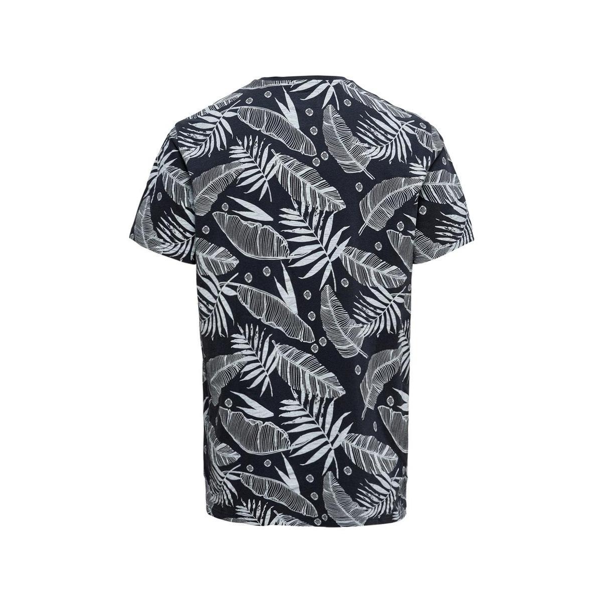 onskiku reg aop ss tee 22016073 only & sons t-shirt dark navy