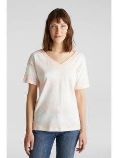 Esprit T-shirt SHIRT MET DUBBELE V HALS 040EE1K354 E840