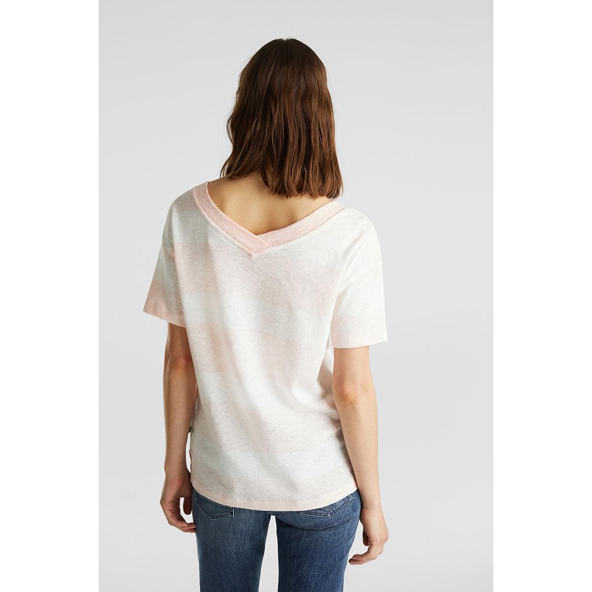 shirt met dubbele v hals 040ee1k354 esprit t-shirt e840