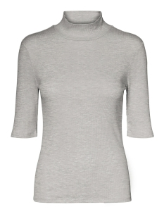 Vero Moda T-shirt VMISLA 2/4 HIGH NECK TOP GA VO 10229752 Light Grey Melange