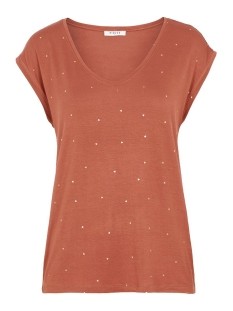Pieces T-shirt PCBILLY SS T-SHIRT AOP FOIL TRIANGL 17102891 COPPER BROWN