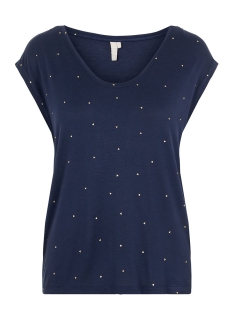 Pieces T-shirt PCBILLY SS T-SHIRT AOP FOIL TRIANGL 17102891 NAVY BLAZER/FOIL