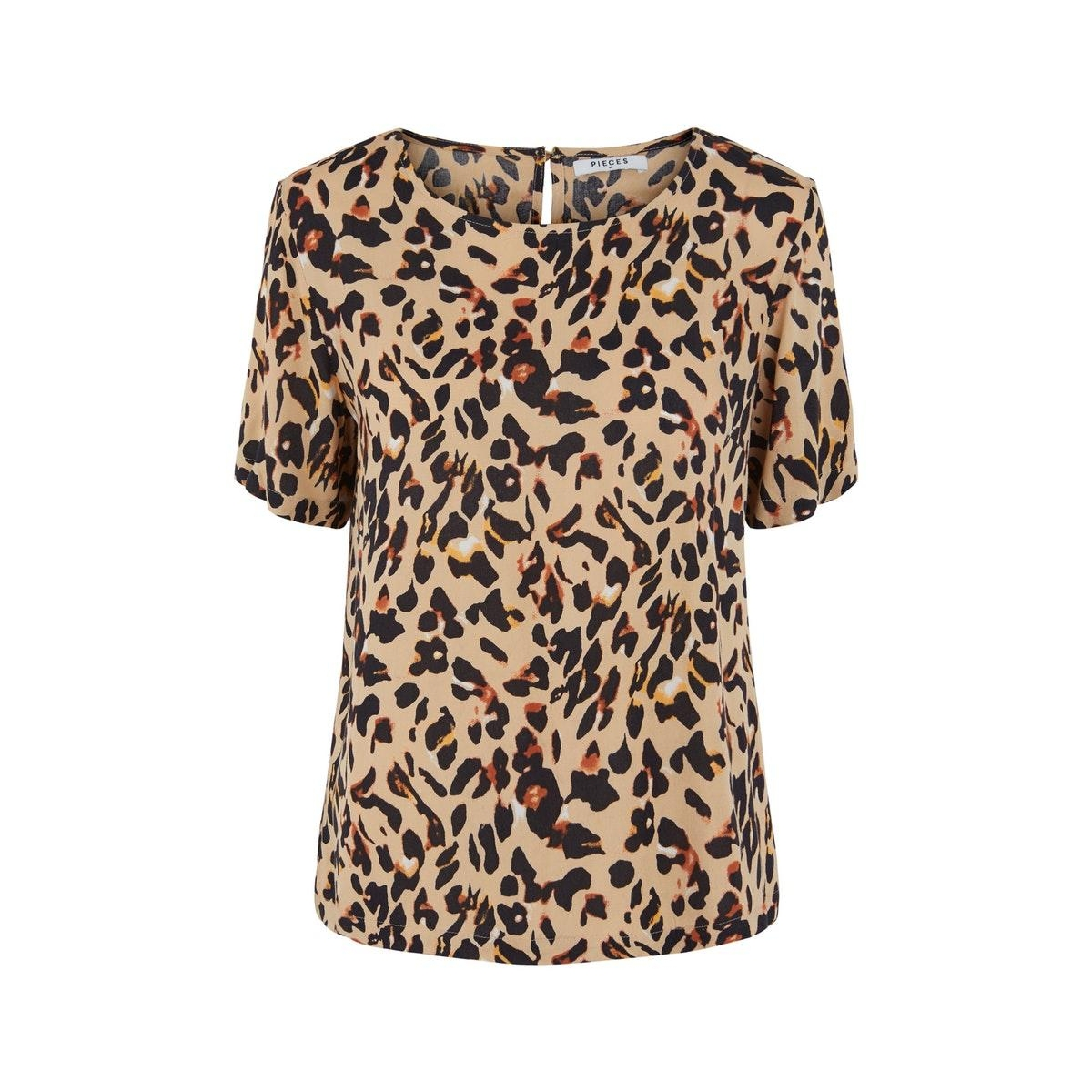 pcnya ss top pb 17102744 pieces t-shirt warm sand/leo
