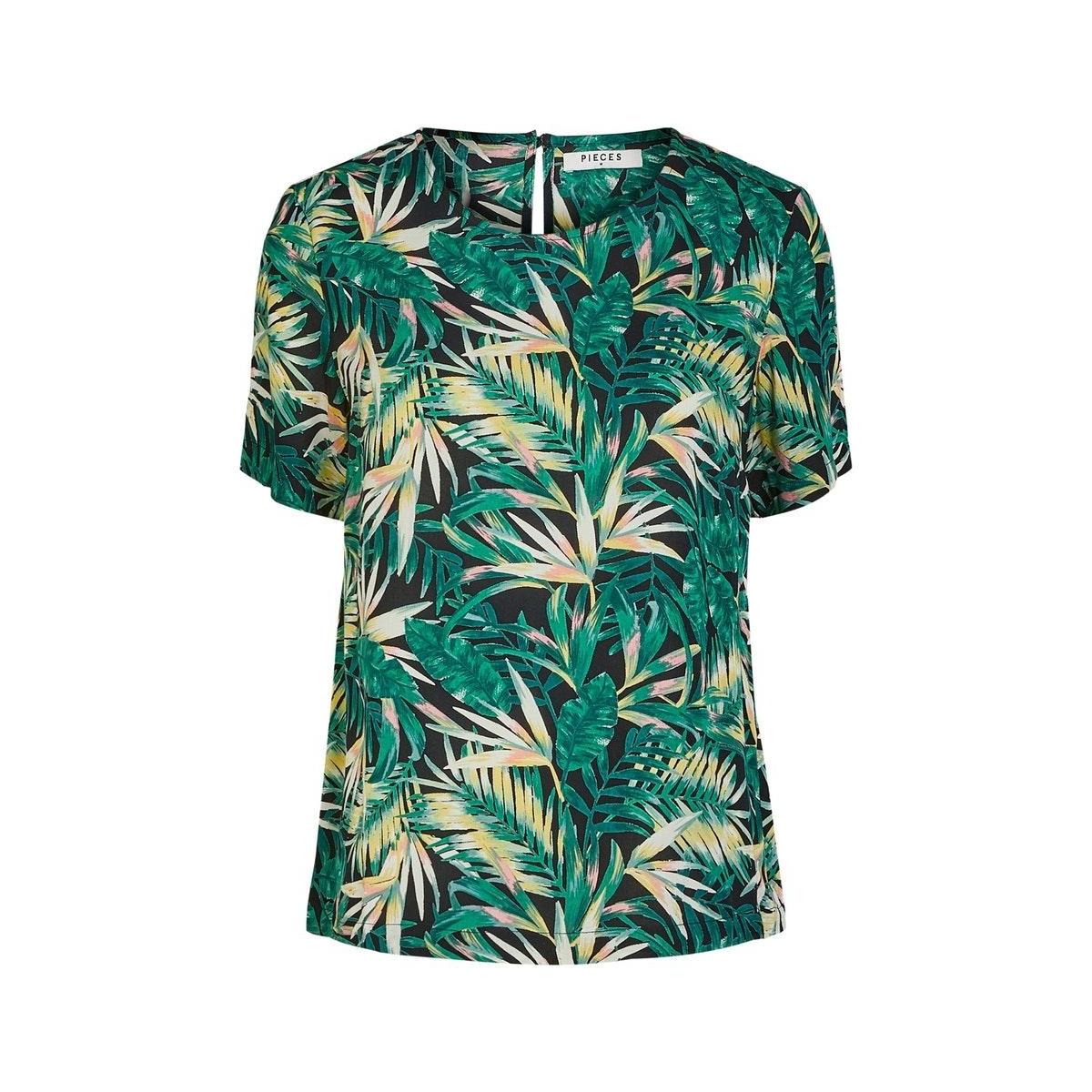 pcnya ss top pb 17102744 pieces t-shirt black/palm